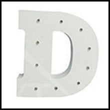 Kids White Wooden Letter Lights