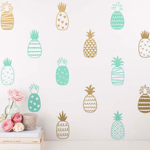 Modern Pineapple Art Decor Vinyl Wall Sticker Decals (Assorted Colors)