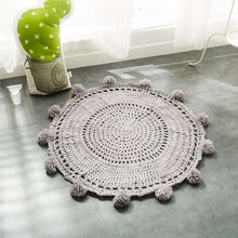 Nordic Handmade round knitted shaped baby blanket mat