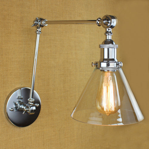 Vintage Plated Industrial Wall Lamp Sconce Light Fixture