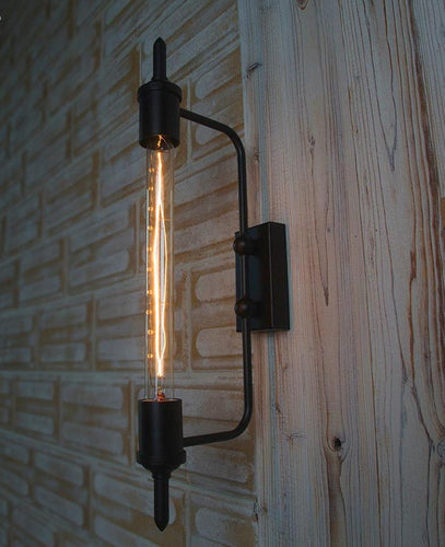 Retro Industrial Tube Wall Sconce Light Fixture