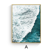Beach Ocean Wave Quote Canvas Poster Prints (Unframed)