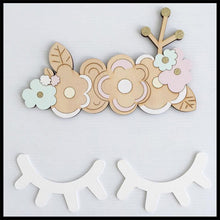 Cute Wood 3D Eyelash Wall Decor