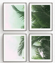 Palm Tree Canvas Poster Print Wall Art SET OF 4