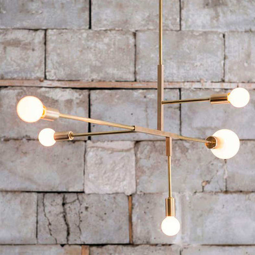 Gold Modern Mobile 5 Light Pendant Chandelier