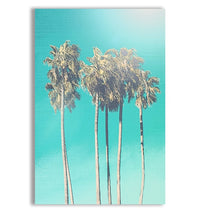 Tropical Palm Tree Canvas Poster Print Wall Art