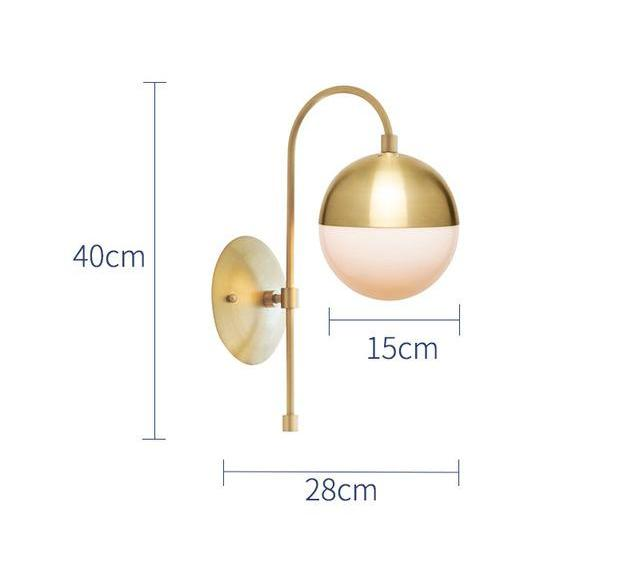 Nordic Modern Stem Gold Led Wall Sconce Light Fixture
