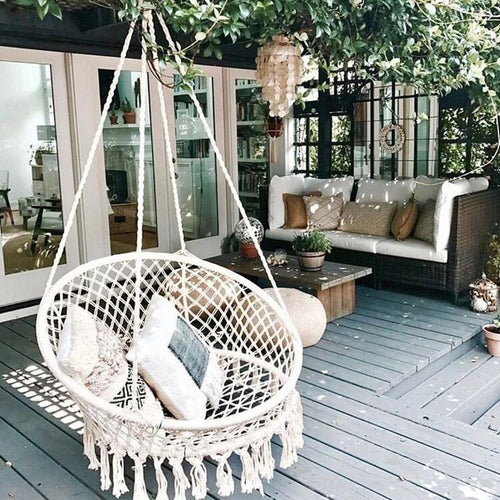 Handmade Knitted Crochet Cotton Hanging Swing Chair
