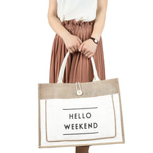 Hello Weekend Canvas Tote