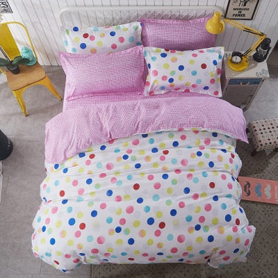 Pastel Pop Polka Dot Kids Duvet Cover Bedding Set