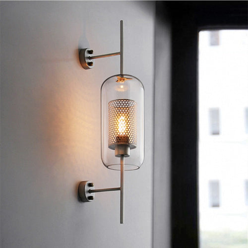 Industrial Retro Cage Wall Sconce Light Fixture