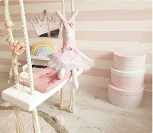 Adorable Baby Solid Wood Ceiling Indoor or Outdoor Swing