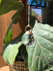 recycled copper topped rainbow maker electroformed glass crystal prism physics simple wealth art made in usa