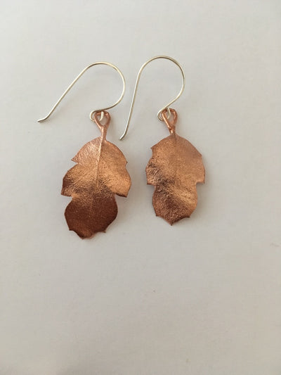 tucker oak electroformed earrings recycled copper simple wealth art made in usa