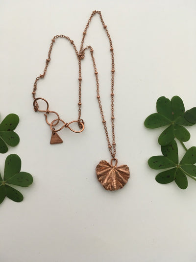 electroformed mallow leaf recycled copper simple wealth art made in usa