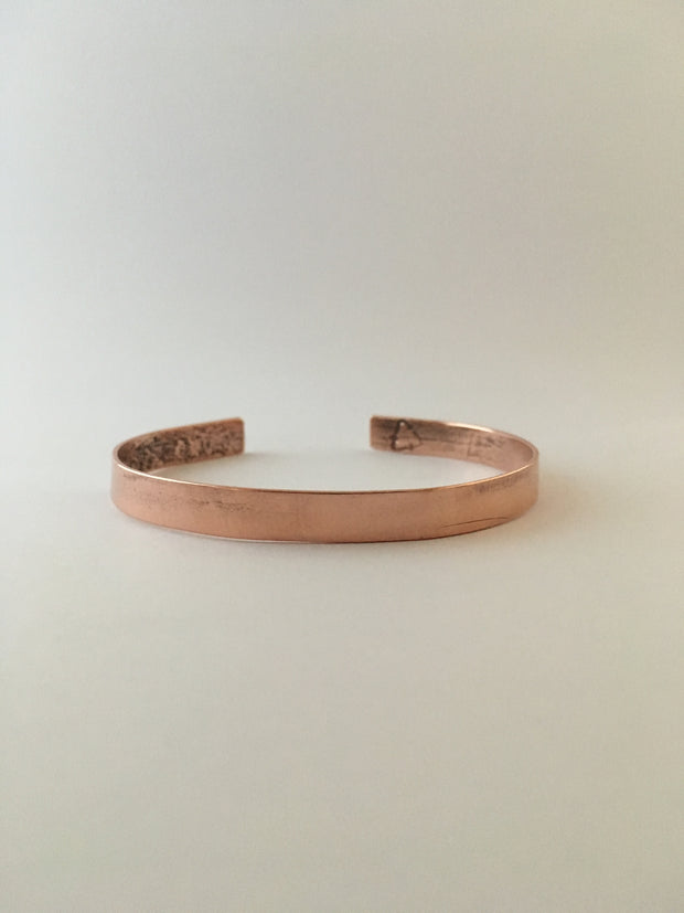recycled copper thin cuff simple wealth art