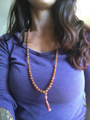red aventurine gemstone mala vegan