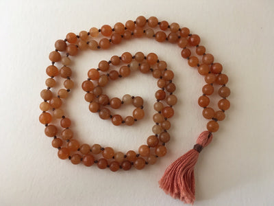 red aventurine mala vegan