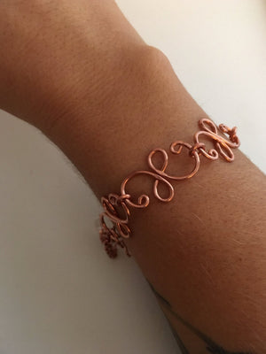 infinity handmade chain spiral link copper wire simple wealth