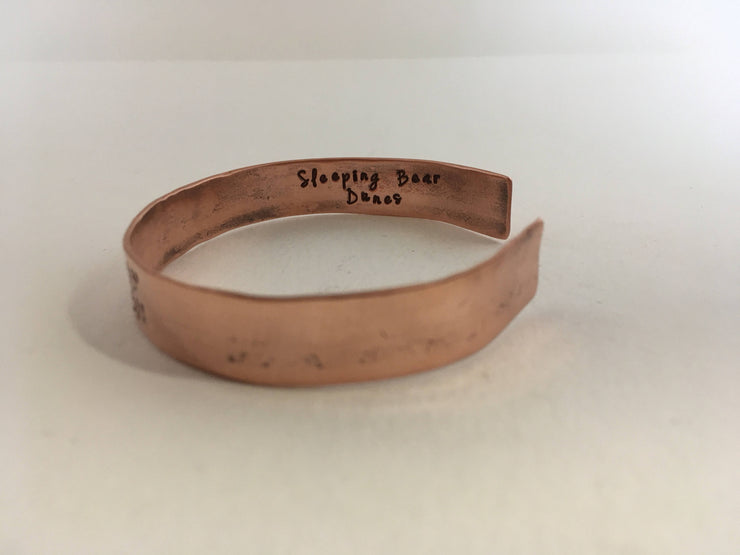 personalized coordinate cuff recycled copper pipe simple wealth