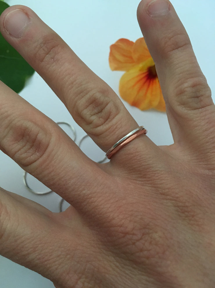 recycled sterling silver stacking ring simple wealth art made in usa