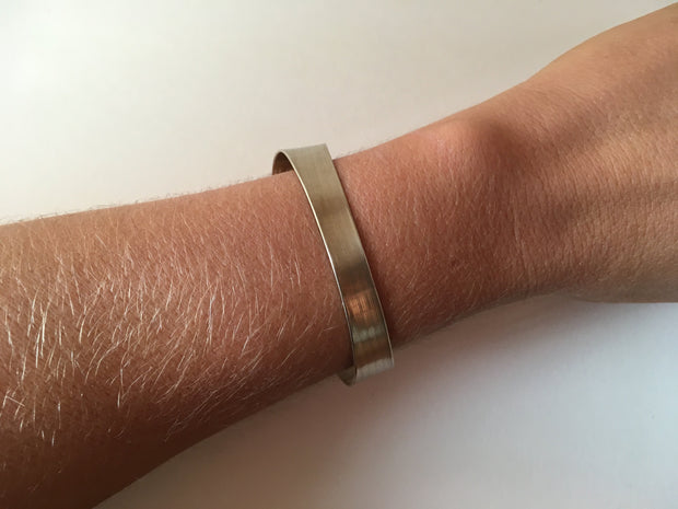 recycled drum cymbal bracelet upcycled brass flared cuff musician drummer simple wealth
