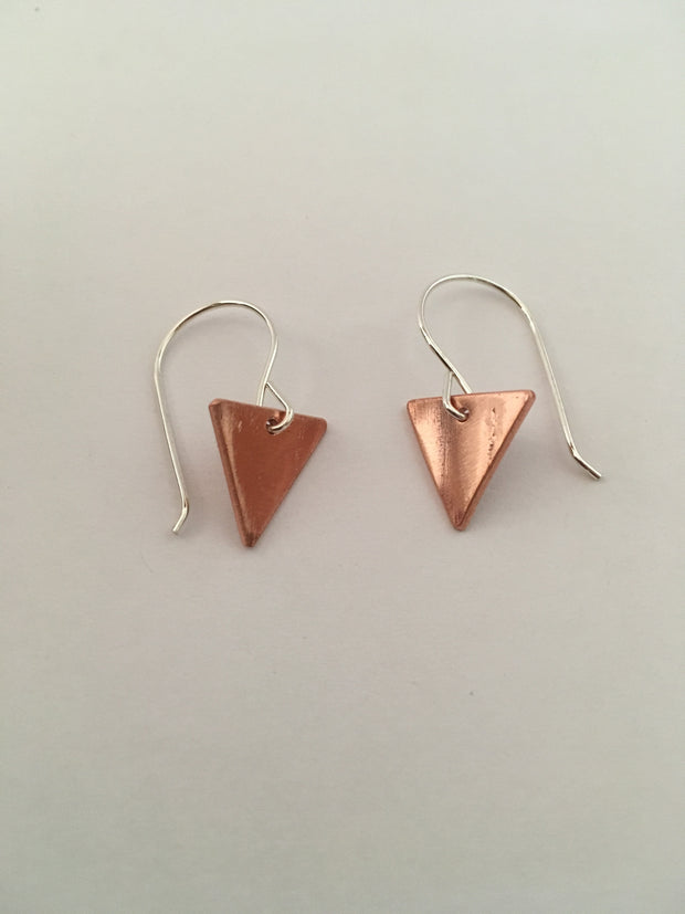 recycled copper tiny triangles plumbing pipe simple wealth art