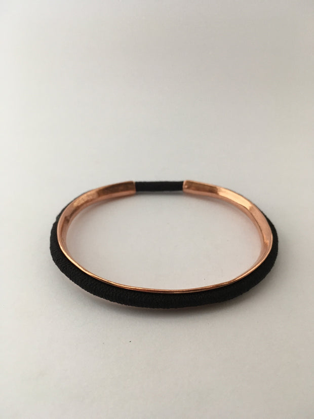 copper hair tie holder cuff recycled metal hair elastic band bracelet Simple wealth art