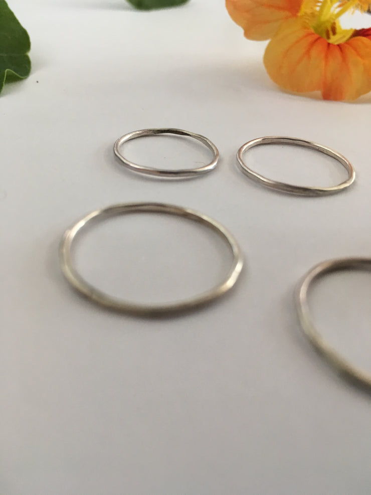Recycled Sterling Silver Wire Stacking Ring