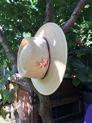 valley oak hat decoration talisman recycled copper electroformed leaf simple wealth art
