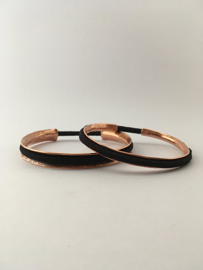 copper hair tie holder cuff metal hair elastic band bracelet Simple wealth art
