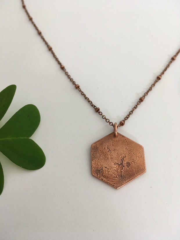 Solid Hexagon Necklace