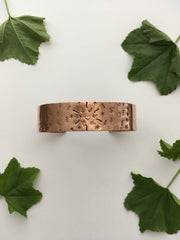 Heart Mandala Upcycled Copper Bracelet