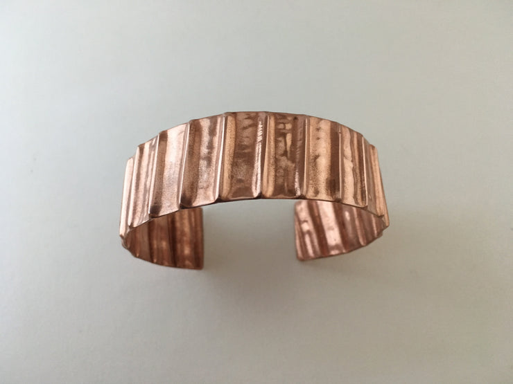 upcycled natural gas tubing jewelry cuff unisex recycled metal made in usa