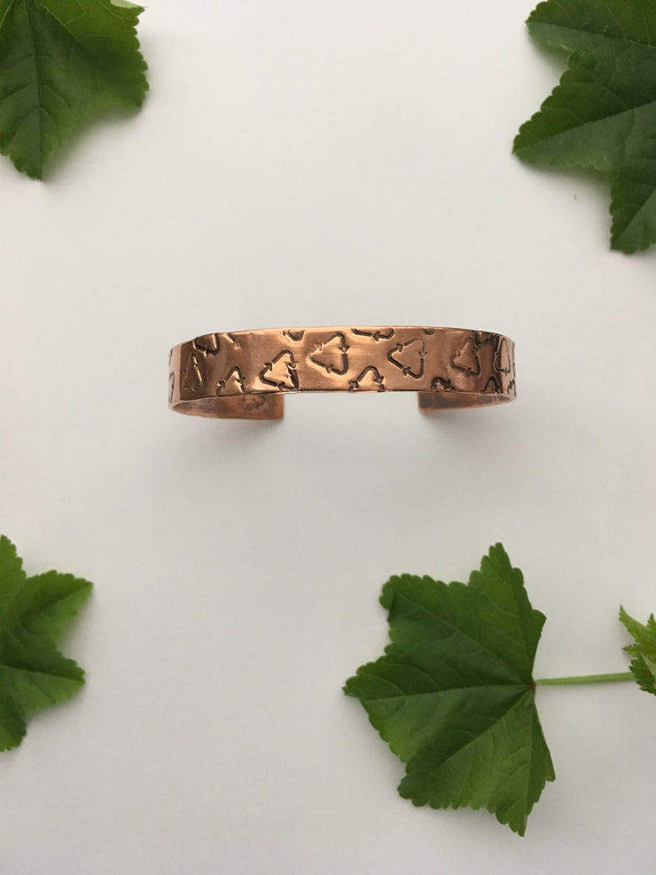 Recycle Crazy Upcycled Copper Bracelet