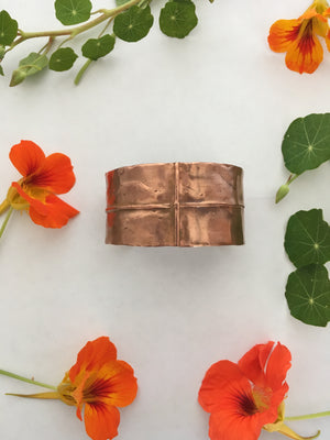 Fold Formed Recycled Copper Bracelets