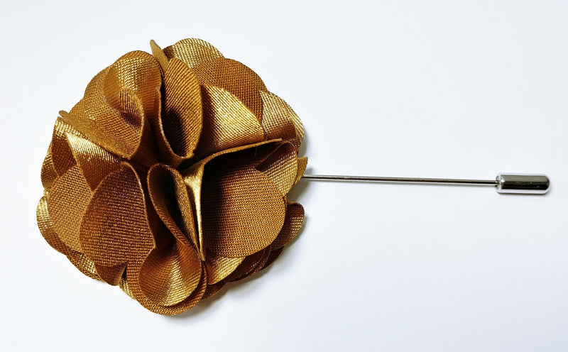 Lapel Pin Floral Chocolate Brown