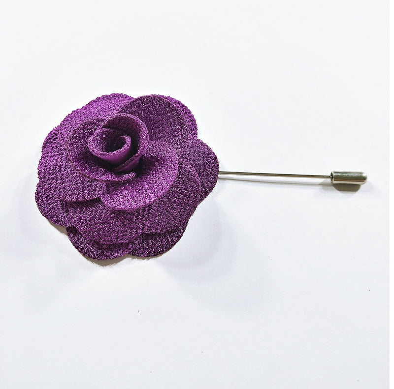 Flower Lapel Pin Purple