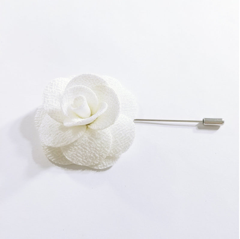 Flower Lapel Pin Snow White
