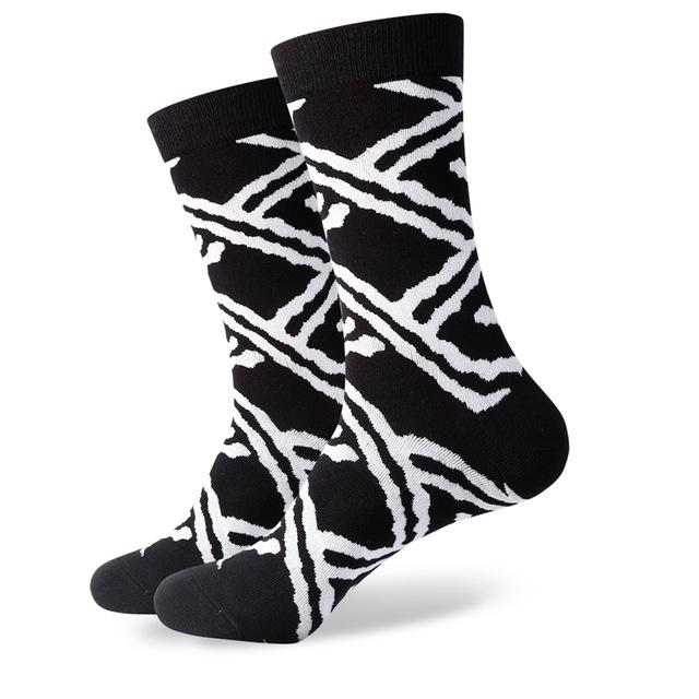 Mens combed cotton socks  mustache socks