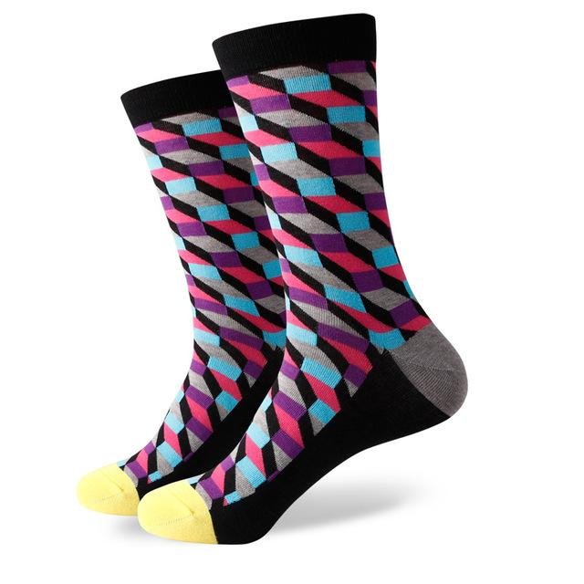 men colorful combed cotton socks FILLED OPTIC SOCK