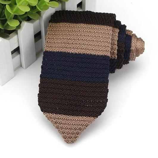 Slim Tie Knitted  Stripe Classic