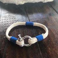 Flat Hemp Rope with Anchor Shackle Ring