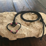 "Double Fish Hook ""Heart"" Hemp Necklace"