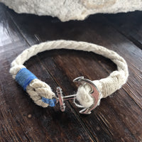 Thick Twisted Hemp Rope with Anchor