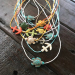 Nauti Turtle Rope Necklace