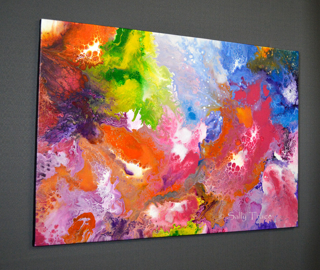 Playful Persuasion, fluid art painting