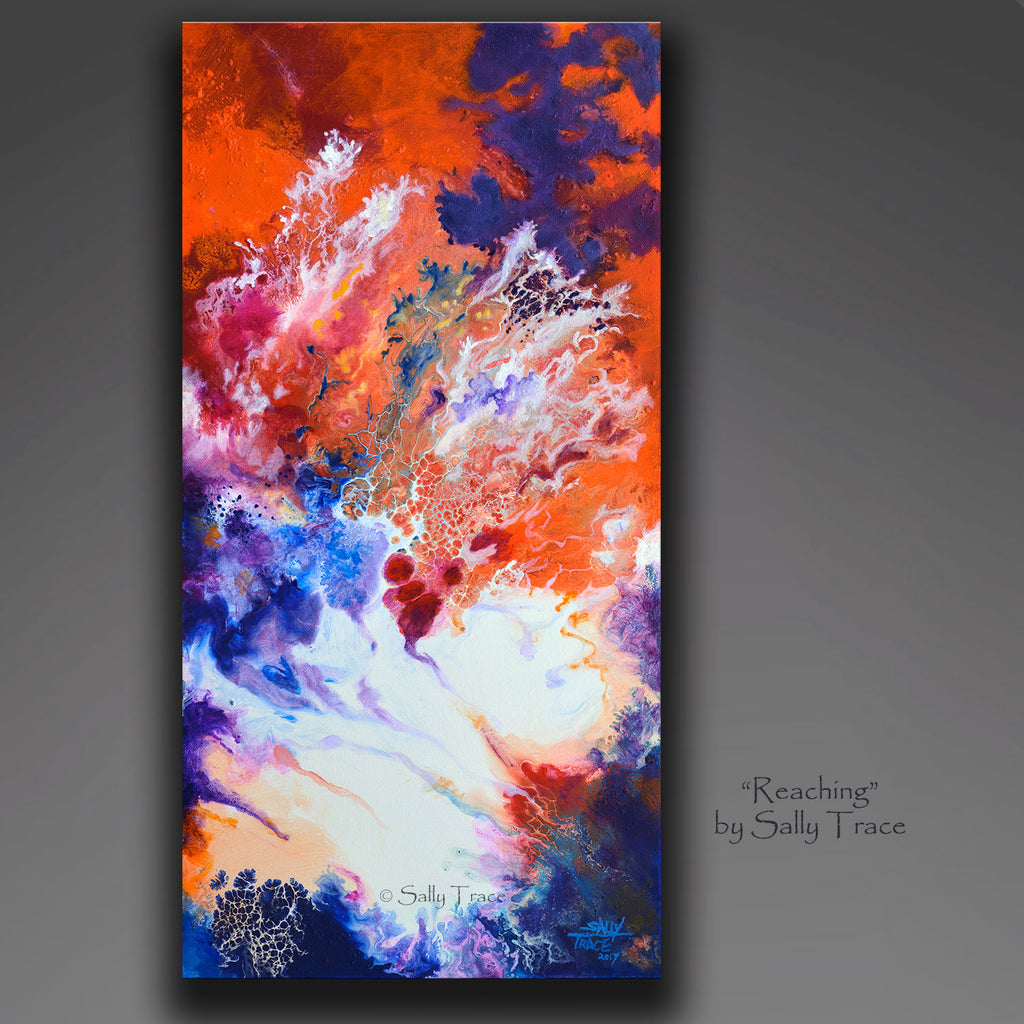 Two New Small Fluid Abstract Deep Sea Paintings