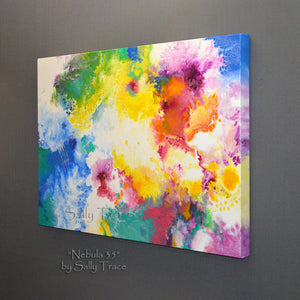 Original acrylic fluid pour paintings by Sally Tracepour
