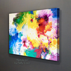 Contemporary abstract art for sale, giclee prints on stretched canvas by Sally Trace